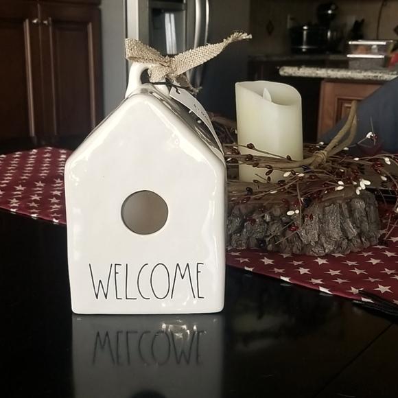 Rae Dunn Welcome Birdhouse